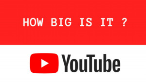 titleimage of How big is YouTub...