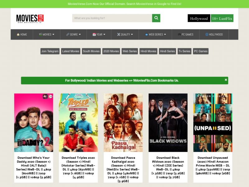 title image of MoviesFlix site t...